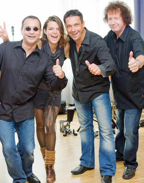 Die Sängerin Steffi Schneider nach dem Auftritt mit unserer Band lecker Nudelsalat in Krefeld