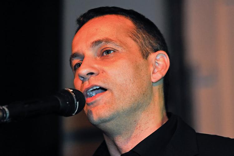 Dirk Baumbach, Sänger und Keyboarder der Band lecker Nudelsalat