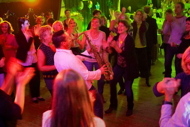 Saxofonist und ein Solo in Lindlar