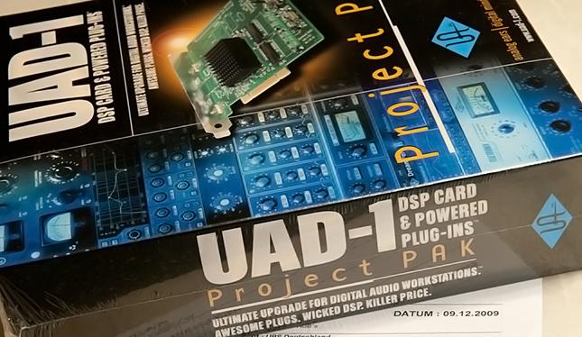 Damit fing vor vielen Jahren für uns alles an. Die UAD-1. Das waren noch Zeiten.
