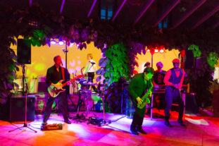 Unsere Band bei einer Hochzeit im Kloster Urbar