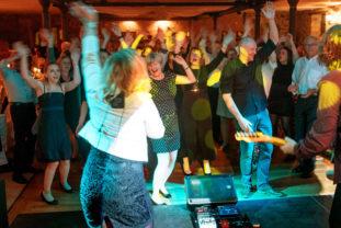 Unsere Band bei einer Feier im Brombachtal