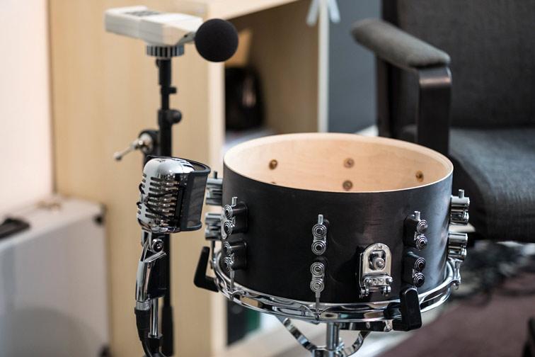 Snare Fell Test, leise Felle für Schlagzeug