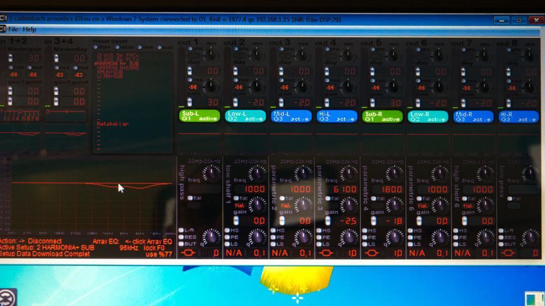 Die Software von Cadenbach Akustik im Test, Amping mit DSP.