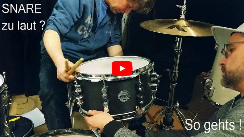 Snare und Schlagzeug leiser machen. So geht es !