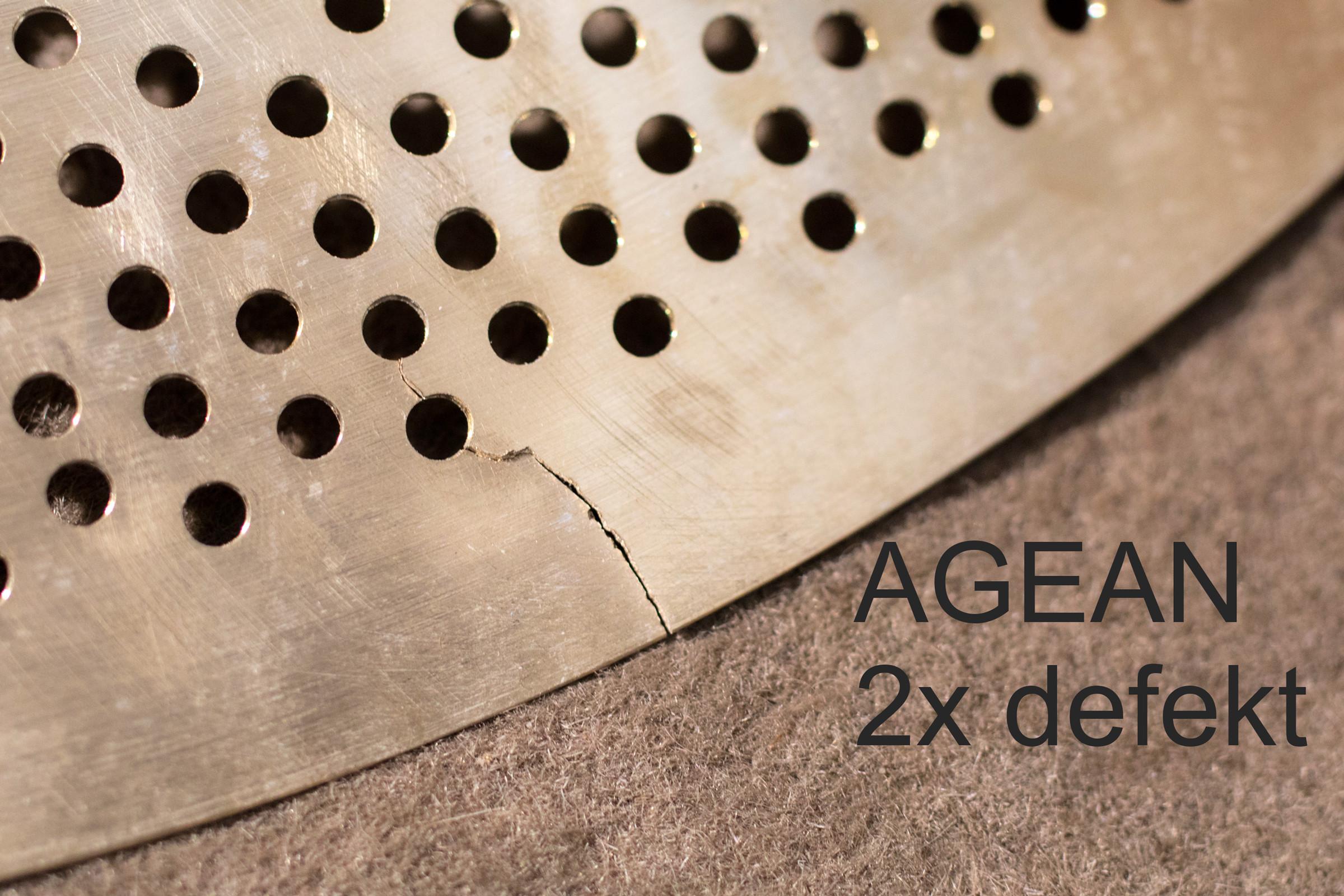 Agean cymbals defekt - Crash broken