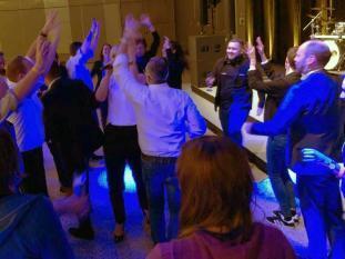 Viel Stimmung mit unserer Band auf der Dortmunder Messe