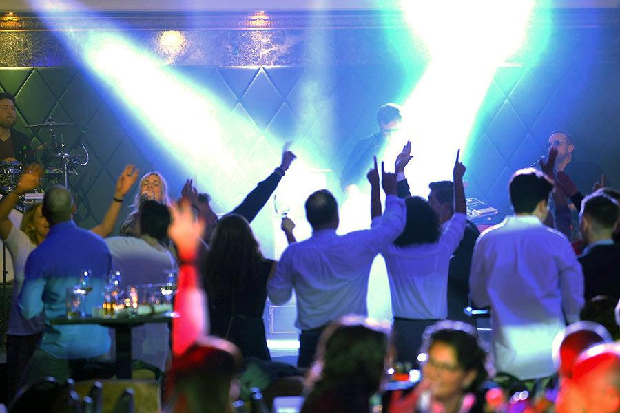 Unsere Kölner Band bei einer Party im Alten Wartesaal in Köln