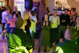 Eine private Feier mit unserer Liveband in Aktion.